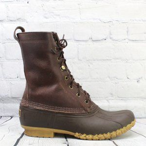 LL Bean Leather Maine Hunting Duck Boot Size 8